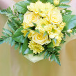 Wedding bouquet of yellow roses — Stock Photo
