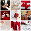Collage of nine wedding photos — Stock Photo #28755069