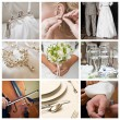 Collage of nine wedding photos — Stock Photo #28755117
