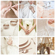 Collage of nine wedding photos — Stock Photo #28755273