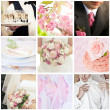 Collage of nine wedding photos — Stock Photo #28755345
