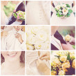 Collage of nine wedding photos — Stock Photo #28755373
