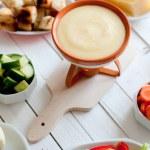Cheese fondue — Stock Photo