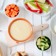 Stock Photo: Cheese fondue