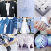 Collage of nine wedding photos — Stok fotoğraf
