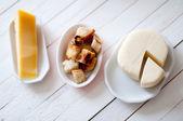 Vários tipos de queijo — Foto Stock