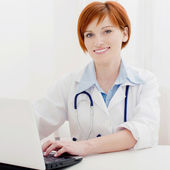 Female doctor waiting for patient — Stock Photo
