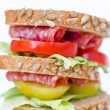 A fresh deli sandwich — Stock Photo