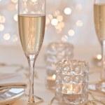 Gold Christmas table setting — Stock Photo #28760651