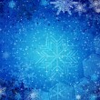 Abstract winter blue background — Stock Photo