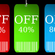 Illustration of discount sale tag — Stock Photo