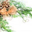 Christmas border over white — Stock Photo #28763147
