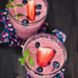 Strawberry and blueberry milkshake — Stock Photo #28764513