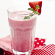 Stock Photo: Strawberry milkshake