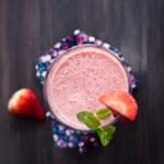 Strawberry milkshake — Stock Photo