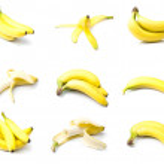 Постер, плакат: Ripe bananas set