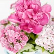 Pink flowers in a vase — Stock Photo #28765933
