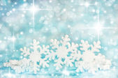 Winter background with snowflakes — Stock Photo