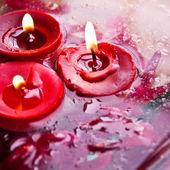Valentine's candle — Stock Photo