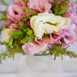 Pink flowers in a vase — Stock Photo