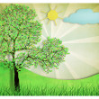 Tree drawing — Stock Photo