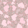 Seamless Valentine's Day pattern — 图库照片