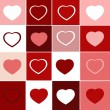 Trendy hearts — Stock Photo