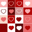 Trendy hearts — Foto de Stock