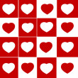 Trendy hearts — Foto Stock