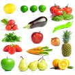Set of fruits and vegetables — Stock Photo #28774017