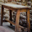 Wooden stool — Stock Photo