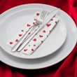 Romantic Dinner.Place setting for Valentine's Day — Stock Photo #28777955