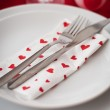 Romantic Dinner.Place setting for Valentine's Day — Stock Photo #28779573
