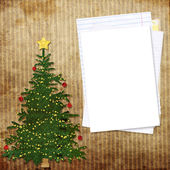 Christmas greeting card with decorations — Stock Photo