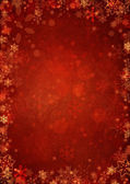 Winter red christmas background with snowflakes — Stock Photo