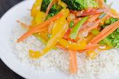 Wok dinner — Стоковое фото