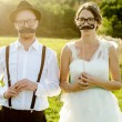 Young wedding couple — Stock Photo #28970957