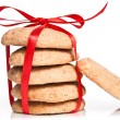 Christmas shortbread cookies — Stock Photo