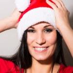 Woman Santa Claus — Stock Photo #35917113