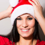 Woman Santa Claus — Stock Photo