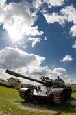 Exhibited tank — Stock Photo