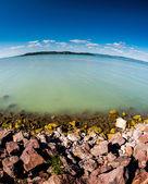 View with natural lake — Stock Photo