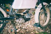 Old motorbike parts — Stock Photo