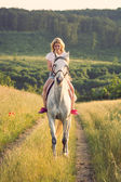 Horseback rider — Stock Photo