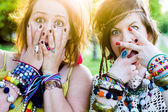 Festival people, facial expression — Stock Photo