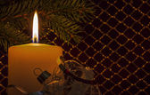 Xmas Candle — Stock Photo
