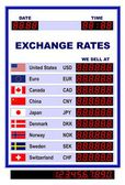 World Currency Rates — Stock Vector