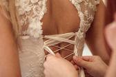 Lacing dress — Foto de Stock