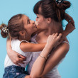 Stock Photo: Young mother with daughter