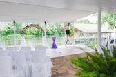Elegant banquet hall — Stock Photo